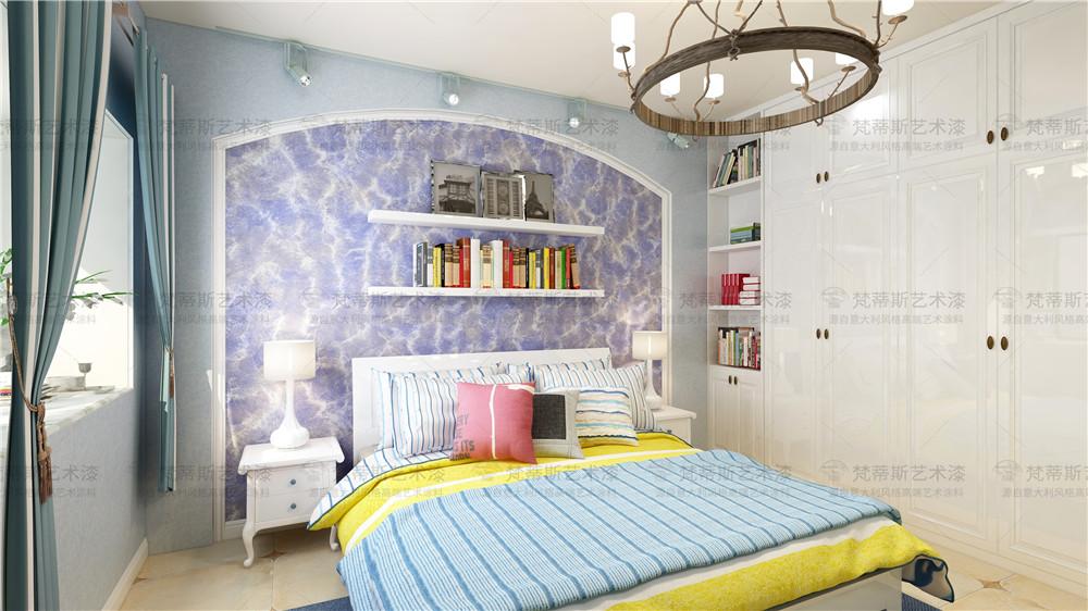 梵蒂斯艺术漆卧室效果